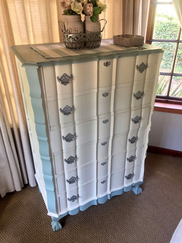 Makeover of Chest of drawers painted to client requirements(After)