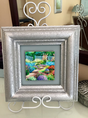 Manufactured  picture frames with prints, painted to match decor